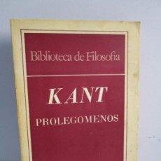 Libros de segunda mano: MANUEL KANT. PROLEGOMENOS. EDITORIAL CHARCAS. BIBLIOTECA DE FILOSOFIA. VER FOTOGRAFIAS ADJUNTAS. Lote 75605519