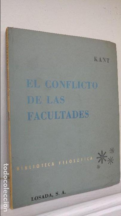 EL CONFLICTO DE LAS FACULTADES (Libros de Segunda Mano - Pensamiento - Filosofía)