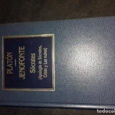 Libros de segunda mano: PLATÓN-JENOFONTE-SÓCRATES-(APOLOGÍA DE SÓCRATES CRITÓN Y LA ORBIS Nº 25-1984-TAPAS DURAS SIMIL PIEL-. Lote 177758139