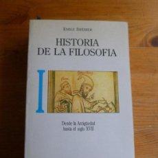 Libros de segunda mano: HISTORIA DE LA FILOSOFIA. E. BREHIER. VOL 1 Y 2. ED. TECNOS. 1988 869 Y 770PP. Lote 78159697