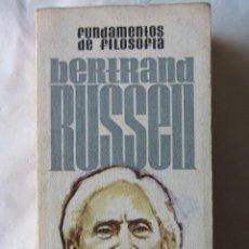 Libri di seconda mano: FUNDAMENTOS DE FILOSOFÍA. BERTRAND RUSSEL. ED. PLAZA&JANES 1972. Lote 79309017