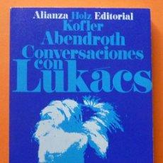 Libros de segunda mano: CONVERSACIONES CON LUKÁCS - H.H. HOLZ, L. KOFLER, W. ABENDROTH - ALIANZA EDITORIAL - 1969 - NUEVO. Lote 81857800