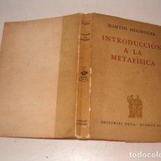MARTIN HEIDEGGER. Introducción a la Metafísica. RMT79762.
