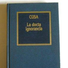 Livros em segunda mão: LA DOCTA IGNORANCIA - NICOLAS CUSA. Lote 85873308
