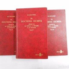 Libros de segunda mano: LA DOCTRINA SECRETA. SINTESIS DE LA CIENCIA, RELIGION Y FILOSOFIA. 3 TOMOS. H.P. BLAVATSKY. TDK169. Lote 86156044