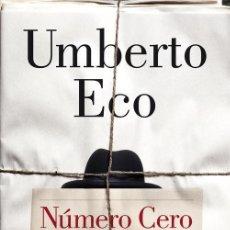 Libros de segunda mano: NÚMERO CERO. - ECO, UMBERTO.. Lote 54655872