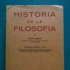 Libros de segunda mano: HISTORIA DE LA FILOSOFIA. PEDRO GUIRAO E IGNACIO IZTUETA. EDICIONES ESTUDIO. 1946. CON PROGRAMA. Lote 88638552