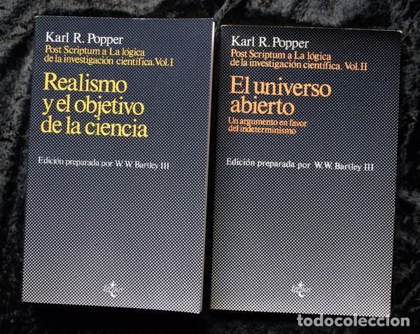 POST SCRIPTUM A LA LOGICA DE LA INVESTIGACION CIENTIFICA - 2 VOLUMENES - KARL R. POPPER - TECNOS (Libros de Segunda Mano - Pensamiento - Filosofía)