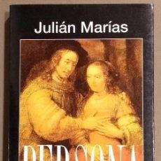 Libros de segunda mano: PERSONA. JULIÁN MARÍAS. ALIANZA EDITORIAL. 1996. 1ª EDICIÓN. COMO NUEVO! . Lote 91197260