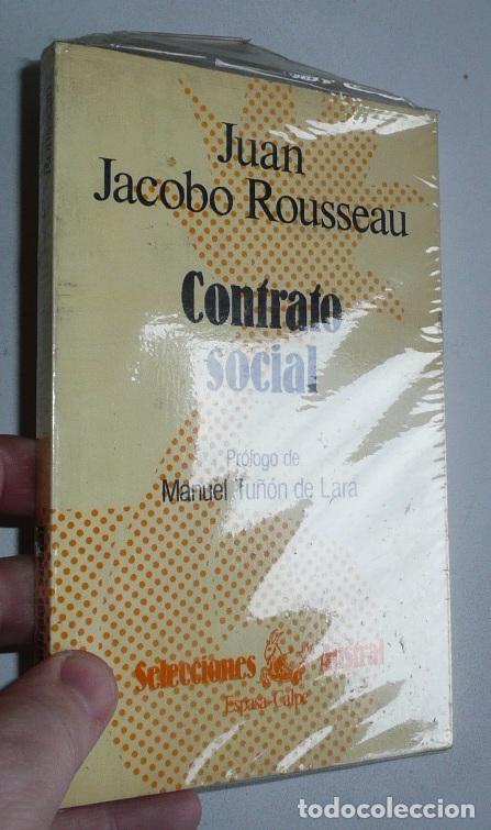 CONTRATO SOCIAL (PRÓLOGO DE MANUEL TUÑON DE LARA) - JEAN JACQUES ROUSSEAU (SELECCIONES AUSTRAL) (Libros de Segunda Mano - Pensamiento - Filosofía)