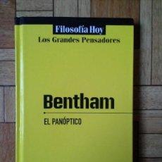 Livres d'occasion: BENTHAM - EL PANÓPTICO. Lote 92367780