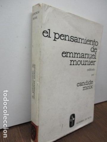 Libros de segunda mano: EL PENSAMIENTO DE EMMANUEL MOUNIER (Barcelona, 1969) - Foto 2 - 92906860