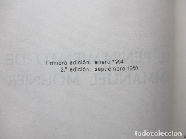 Libros de segunda mano: EL PENSAMIENTO DE EMMANUEL MOUNIER (Barcelona, 1969) - Foto 5 - 92906860
