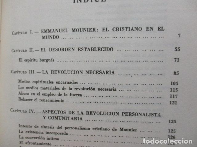 Libros de segunda mano: EL PENSAMIENTO DE EMMANUEL MOUNIER (Barcelona, 1969) - Foto 7 - 92906860