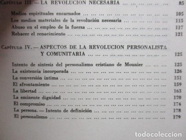 Libros de segunda mano: EL PENSAMIENTO DE EMMANUEL MOUNIER (Barcelona, 1969) - Foto 8 - 92906860