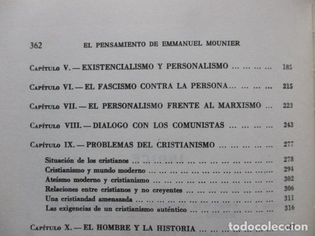 Libros de segunda mano: EL PENSAMIENTO DE EMMANUEL MOUNIER (Barcelona, 1969) - Foto 9 - 92906860