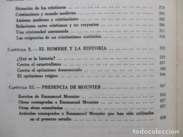 Libros de segunda mano: EL PENSAMIENTO DE EMMANUEL MOUNIER (Barcelona, 1969) - Foto 10 - 92906860