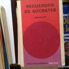Libros de segunda mano: RECUERDOS DE SÓCRATES. JENOFONTE. Lote 95138452