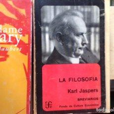 Libros de segunda mano: LA FILOSOFÍA. KARL JASPERS. Lote 95323759