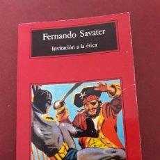 Libros de segunda mano: INVITACIÓN A LA ÉTICA. FERNANDO SAVATER.. Lote 95815067