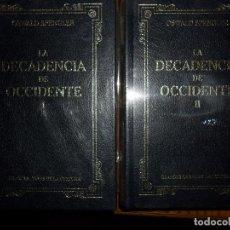 Libros de segunda mano: LA DECADENCIA DE OCCIDENTE, OSWALD SPENGLER, ED. RBA, PRECINTADO, 2 TOMOS. Lote 96932671