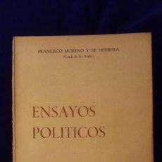 Libros de segunda mano: LIBRO ENSAYOS POLITICOS. Lote 97307335