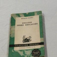 Libros de segunda mano: ENSAYOS SOBRE EDUCACIÓN. Lote 97682891