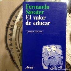Libros de segunda mano: EL,VALOR DE EDUCAR. FERNANDO SAVATER. Lote 97894906