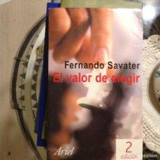 Libros de segunda mano: EL,VALOR DE ELEGIR. FERNANDO SAVATER. Lote 97894944
