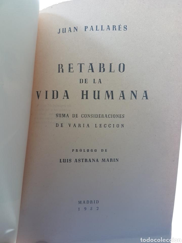 Libros de segunda mano: RETABLO DE LA VIDA HUMANA FIRMADO - PALLARES, JUAN - Foto 6 - 98197012