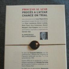 Libros de segunda mano: PROCESO AL AZAR - PROCÉS A L'ATZAR - CHANCE ON TRIAL, JORGE WAGENSVERG Y SALVADOR DALÍ (1985). Lote 98442120