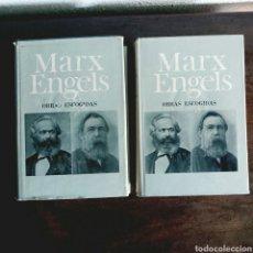 Libros de segunda mano: MARX ENGELS OBRAS ESCOGIDAS EN DOS TOMOS - FIRMAS DE MARX Y ENGELS EDITORIAL PROGRESO MOSCÚ AÑO 1966. Lote 98484859