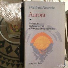 Libros de segunda mano: AURORA. FRIEDRICH NIETZSCHE. Lote 98520571