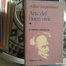 Libros de segunda mano: ARTE DEL,BUEN VIVIR. SCHOPENHAUER. Lote 98521427