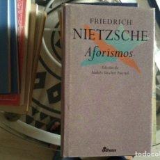 Libros de segunda mano: AFORISMOS. FRIEDRICH NIETZSCHE. Lote 98521563