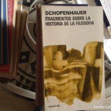 Libros de segunda mano: FRAGMENTOS SOBRE LA HISTORIA DE LA,FILOSOFÍA. Lote 98521612