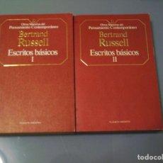 Libros de segunda mano: ESCRITOS BÁSICOS - BERTRAND RUSSELL.. Lote 98805055