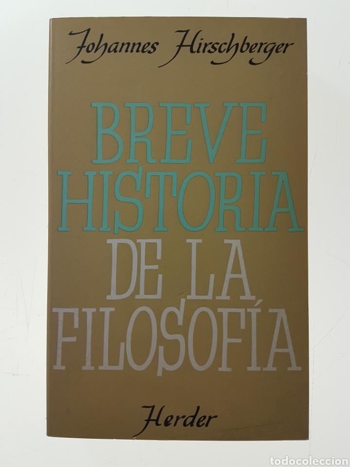 Breve Historia De La Filosofia Hirschberger Comprar Libros De