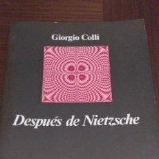 Libros de segunda mano: DESPUES DE NIETZSCHE. GIORGIO COLLI. Lote 99948675