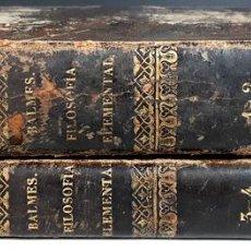 Libros de segunda mano: CURSO DE FILOSOFÍA ELEMENTAL. 4 TOMOS EN 2 VOLÚMENES. IMP. D. E. AGUADO. 1847.. Lote 100044015