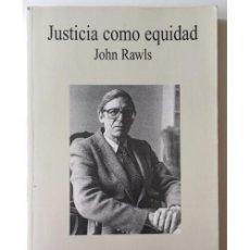 Libros de segunda mano: LA JUSTICIA COMO EQUIDAD. Lote 100714931