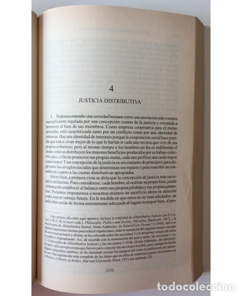 Libros de segunda mano: LA JUSTICIA COMO EQUIDAD - Foto 3 - 100714931