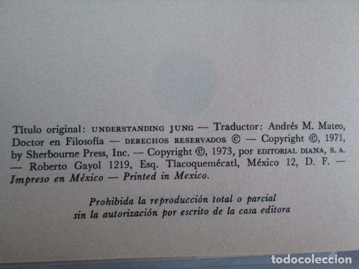 Libros de segunda mano: ENTENDIENDO A JUNG. NORMAN WINSKI. EDITORIAL DIANA 1973. VER FOTOGRAFIAS ADJUNTAS - Foto 8 - 101108575