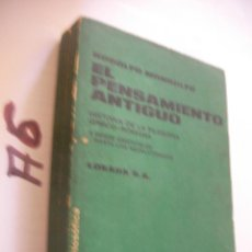 Libros de segunda mano: HISTORIA DE LA FILOSOFICA GRECO ROMANA. Lote 101737975