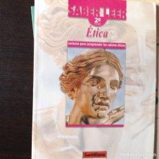 Libros de segunda mano: LECTURAS PARA COMPRENDER LOS VALORES ÉTICOS. Lote 101791016