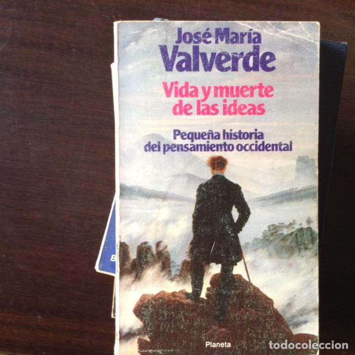 VIDA Y MUERTE DE LAS IDEAS. JOSÉ MARÍA VALVERDE (Libros de Segunda Mano - Pensamiento - Filosofía)