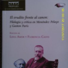 Libros de segunda mano: LIBRO Nº 1179 EL ERUDITO FRENTE AL CANON DE LIDIA AMOR Y FLORENCIA CALVO. Lote 102723943