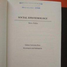 Libros de segunda mano: SOCIAL EPISTEMOLOGY. STEVE FULLER. Lote 103583315