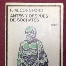 Libros de segunda mano: ANTES Y DESPUES DE SÓCRATES. F. M. CORNFORD. Lote 103975215