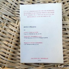 Libros de segunda mano: DISCURSOS. EDICIONES DE MOVIMIENTO. 1971. ACTO DE CONMEMORACION DE LA FUNDACION DE FALANGE. Lote 104029627